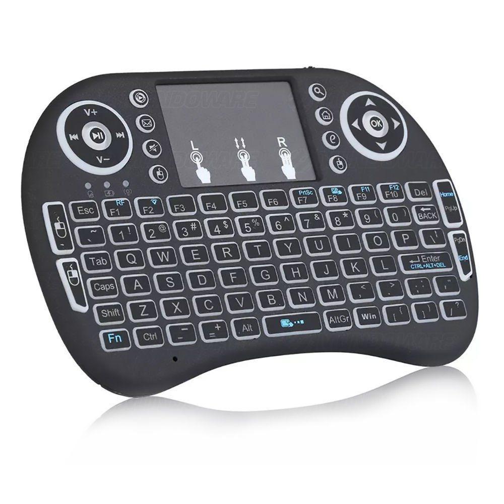 Mini Teclado e Touch Pad Wireless para TV Smart TV Box PC Notebook Celular Android - AirMouse I8.LED