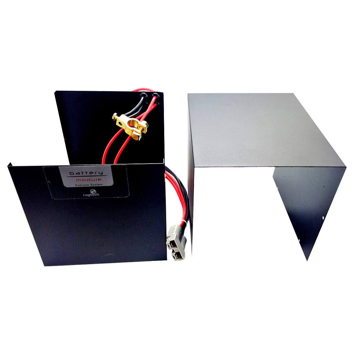 Módulo de Bateria Externa para Nobreak 40Ah 12V com Cabo para Engate Integrado Ragtech 8055 (Não Acompanha Bateria)
