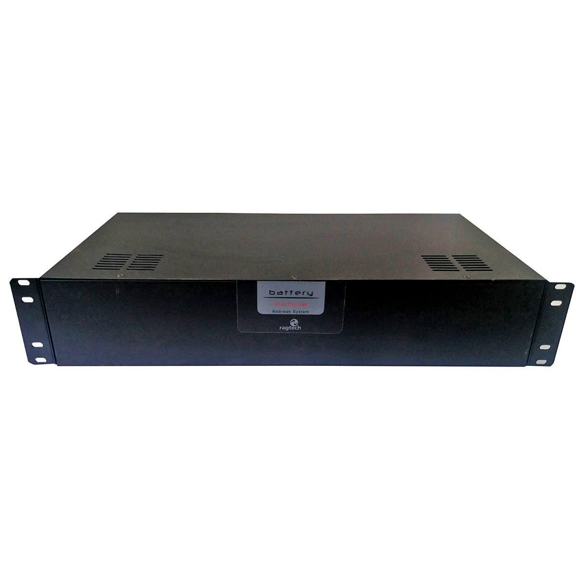 """Módulo de Bateria para Nobreak Rack 19"""" com 4 Baterias Internas de 12V 7Ah e Conector para Bateria Externa Ragtech 4270"""
