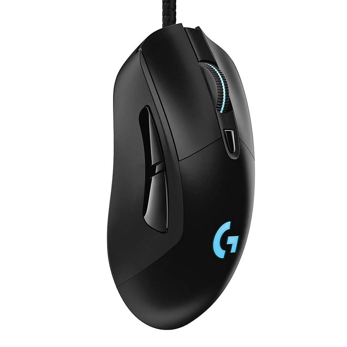 Mouse Gamer Hero Logitech G403 Tecnologia Lightsync 6 Botões Programáveis Ajuste De Peso Sensor 16000 DPI 910-005631