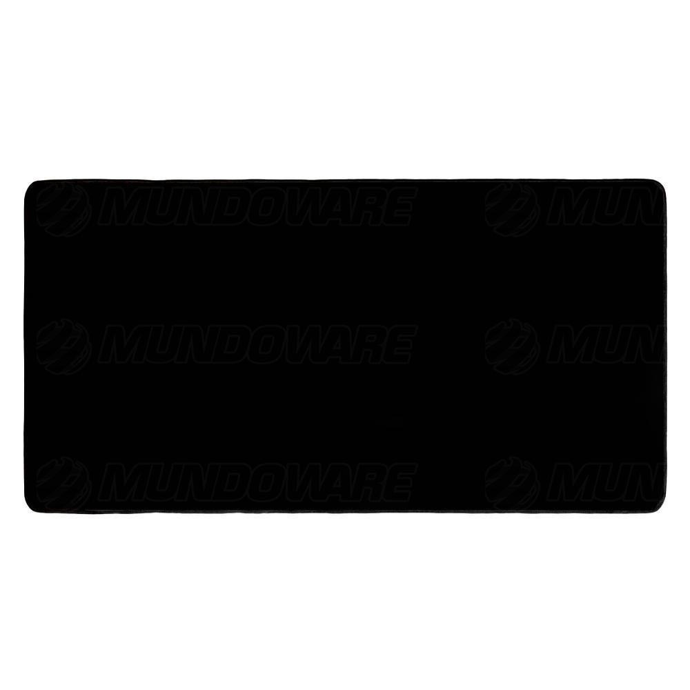 Mouse Pad Extra Grande 700x350x3mm Gamer Base Antiderrapante e Bordas Costuradas Preto Sem Estampa Exbom MP7035C