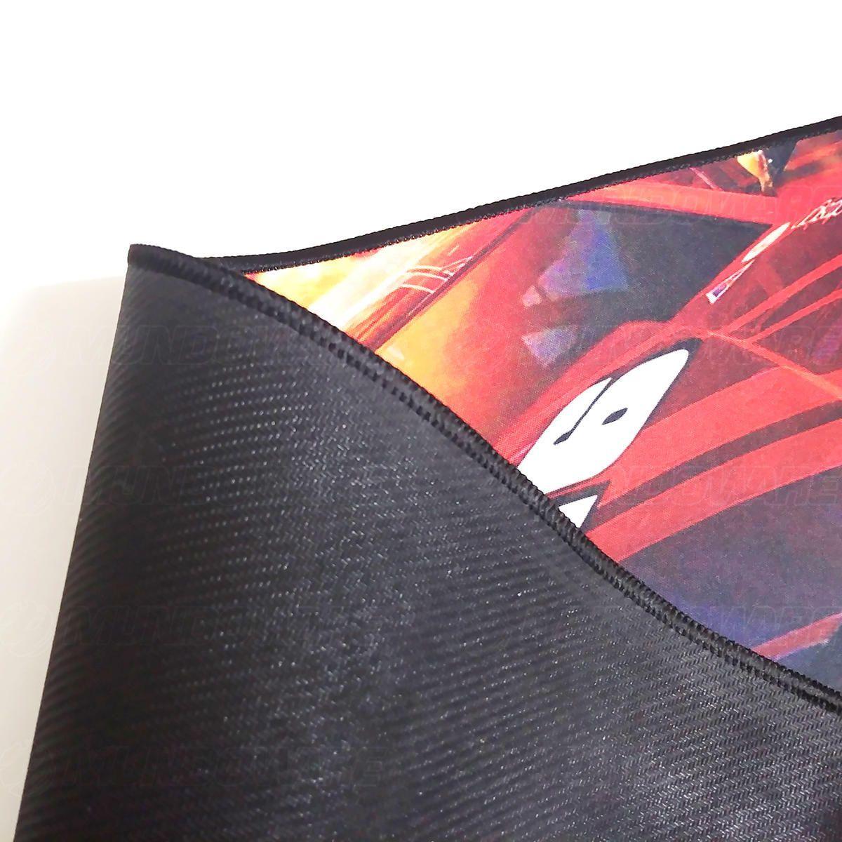 Mouse Pad Gamer Extra Grande 700x350x3mm Bordas Costuradas e Base Antiderrapante Modelo Carro de Corrida Exbom MP7035C