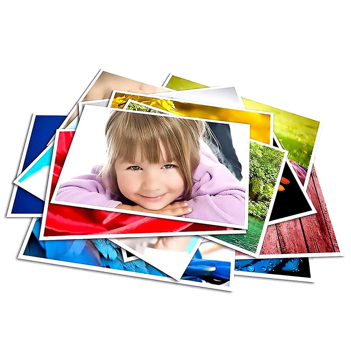 Papel Adesivo Fotográfico 80g A4 Glossy Branco Brilhante Resistente à Água / 100 folhas