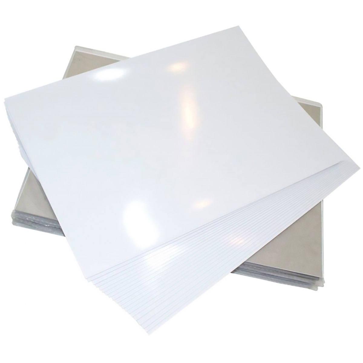 Papel Fotográfico 120g A4 Glossy Branco Brilhante Resistente à Água / 100 folhas