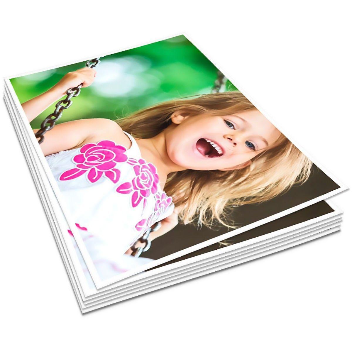 Papel Fotográfico A4 135g Glossy Branco Brilhante Resistente à Água / 500 folhas