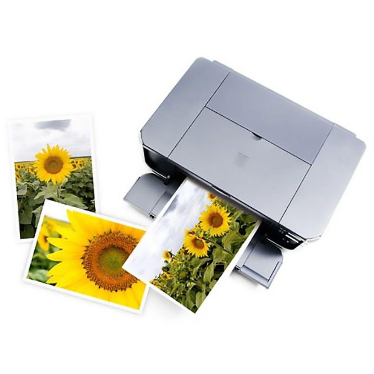 Papel Fotográfico A4 150g Glossy Branco Brilhante Resistente à Água / 500 folhas