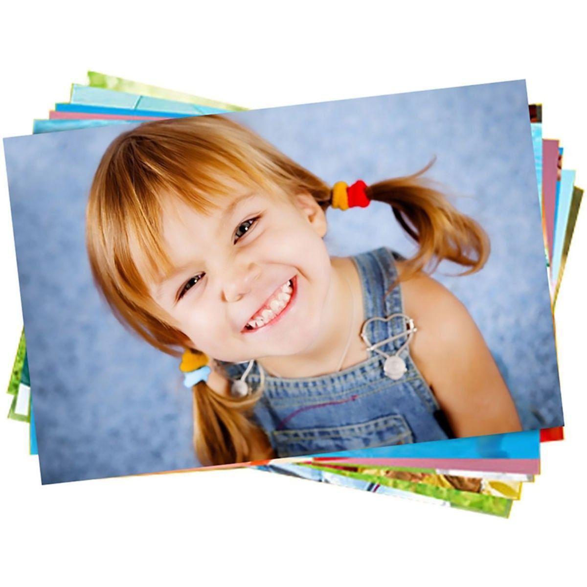 Papel Fotográfico A4 230g Glossy Branco Brilhante Resistente à Água / 200 folhas
