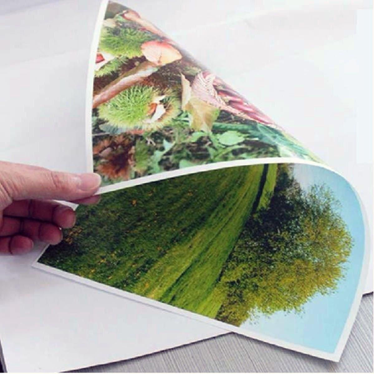 Papel Fotográfico A4 Dupla Face 220g Glossy Branco Brilhante Resistente à Água / 500 folhas