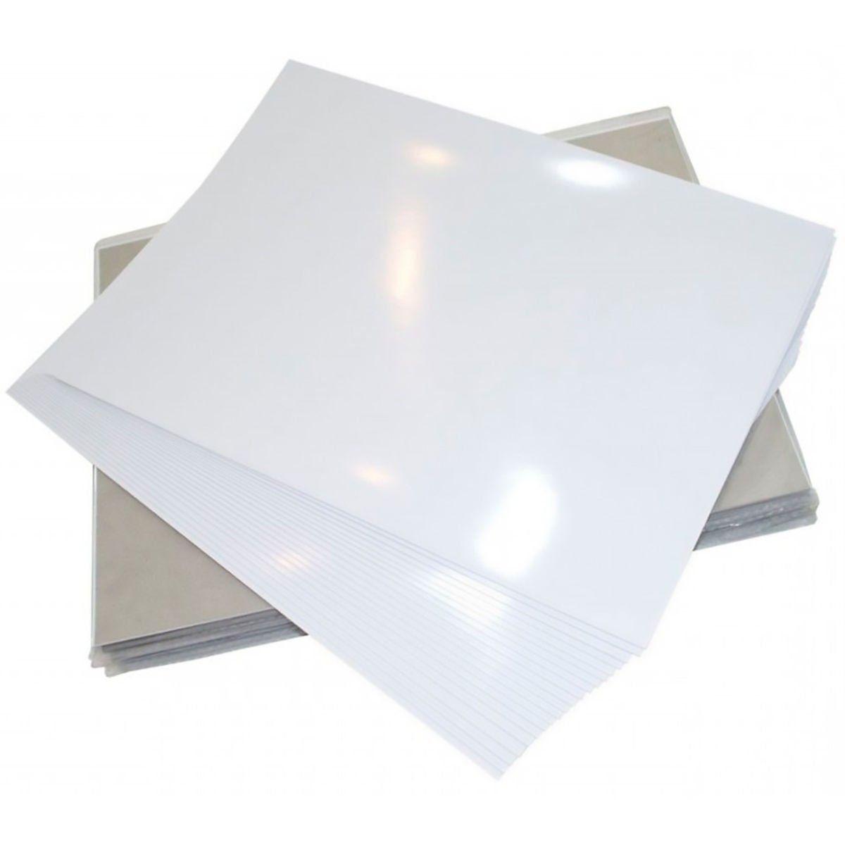 Papel Fotográfico Adesivo Glossy A4 130g Branco Brilhante Resistente à Água / 20 folhas