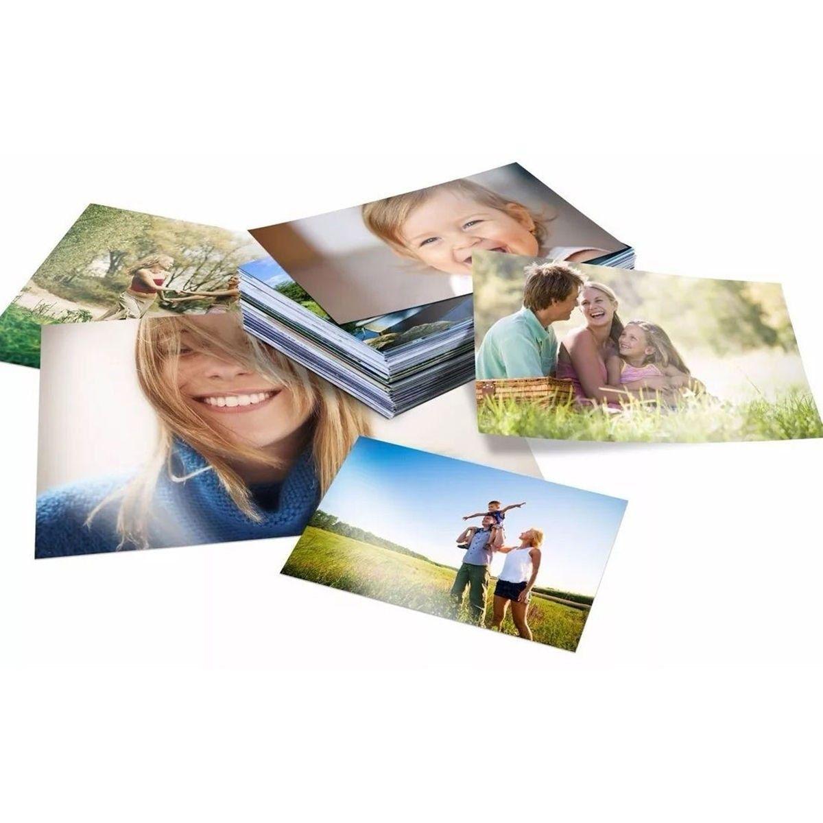 Papel Fotográfico Adesivo Glossy A4 130g Branco Brilhante Resistente à Água / 50 folhas