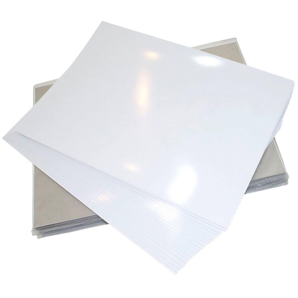 Papel Fotográfico Dupla Face 120g A4 Branco Brilhante Resistente à Água / 50 Folhas