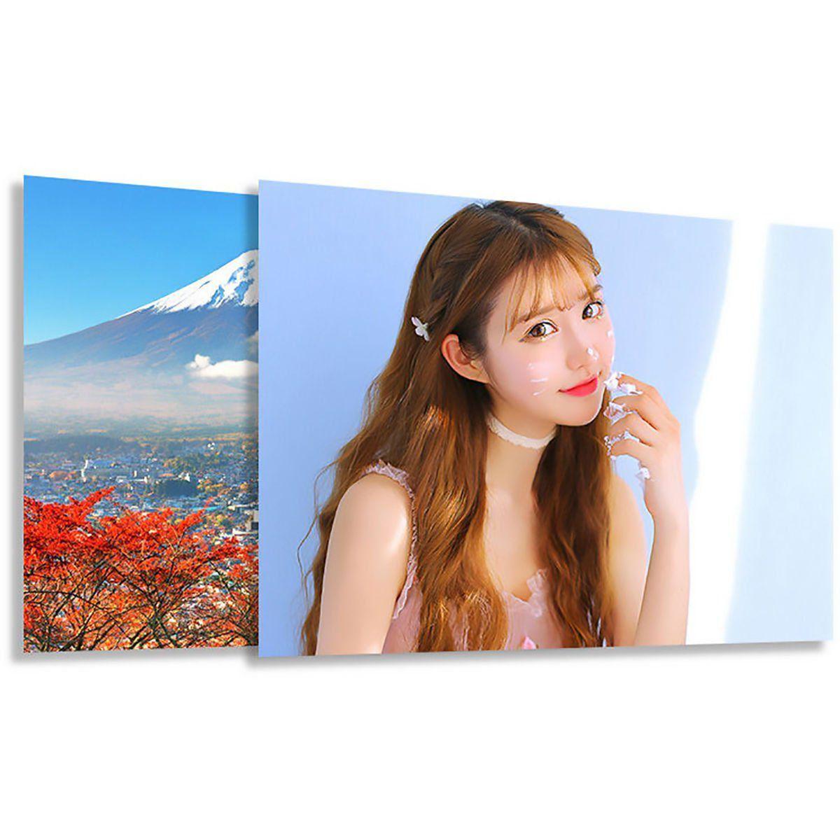 Papel Fotográfico Glossy A3 297mm x 420mm 230g Branco Brilhante Resistente à Água / 100 Folhas