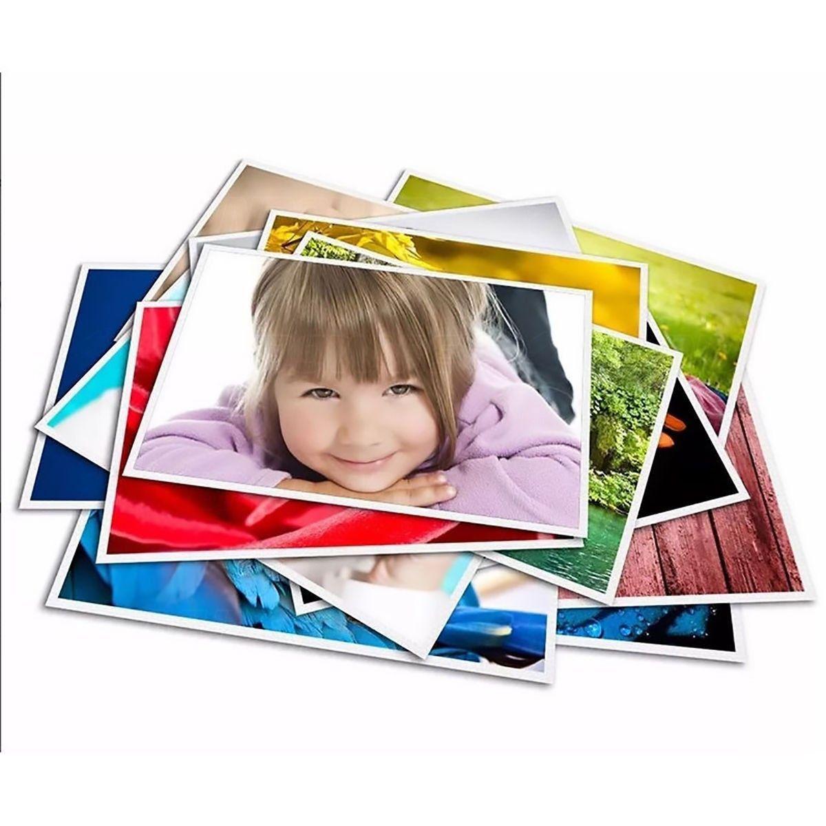 Papel Fotográfico Matte Fosco 108g A4 Branco Resistente à Água / 100 folhas