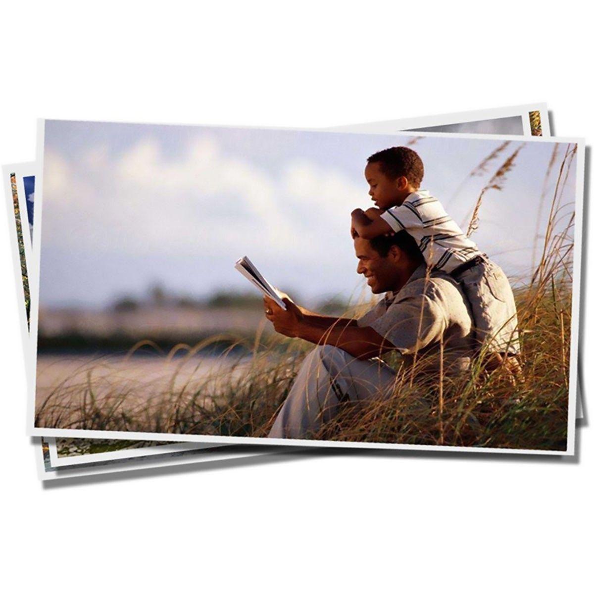 Papel Fotográfico Matte Fosco 108g A4 Branco Resistente à Água / 500 folhas