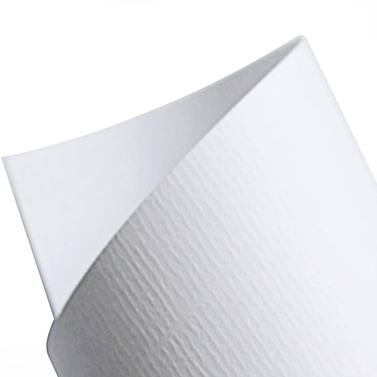 Papel Vergê Texturizado 180g A4 Branco Premium com 50 Folhas