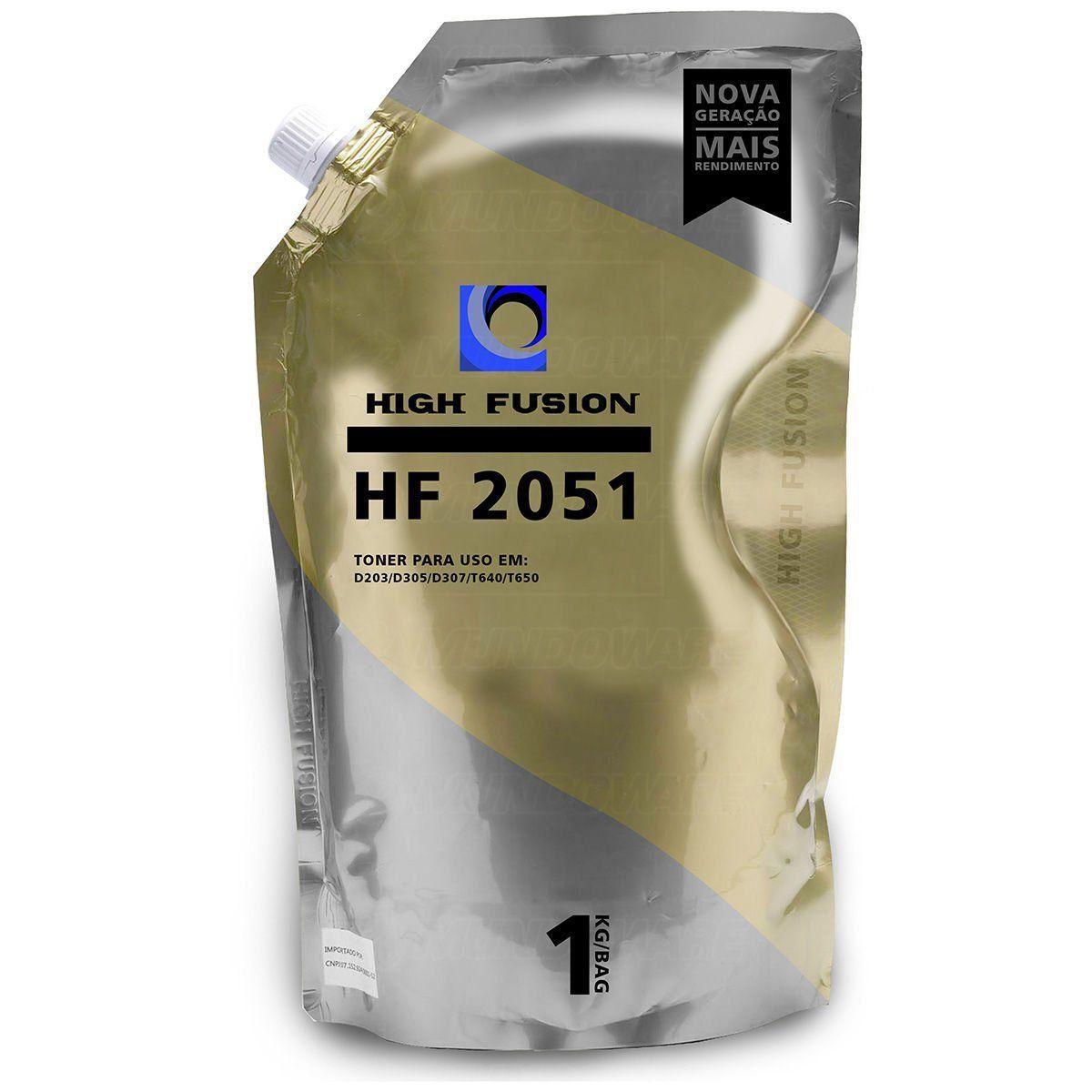 Pó de Toner High Fusion HF2051 HF1951 compatível para Samsung Lexmark Universal de Alta / Preto / Bag 1 kg