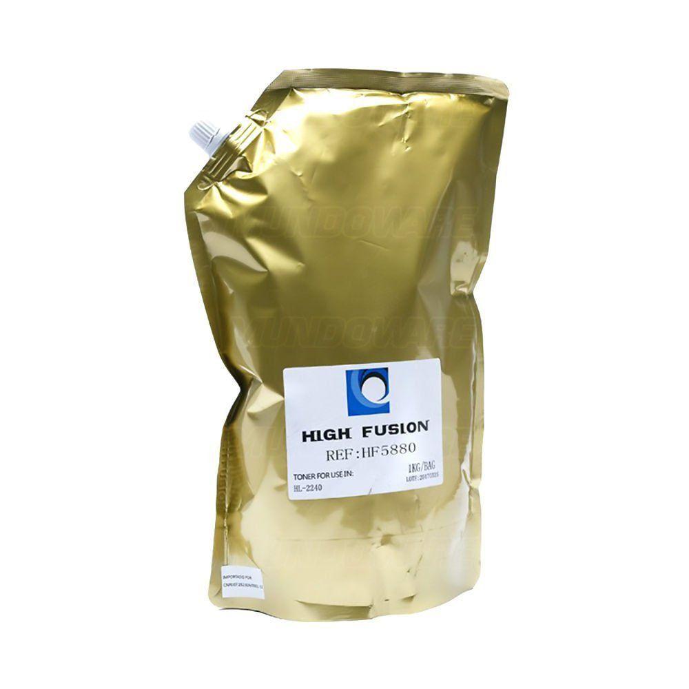 Pó de Toner High Fusion HF6880 HF5880 compatível para Brother TN2340 TN2370 TN3442 TN3472 TN3492 / Preto / Bag 1 kg