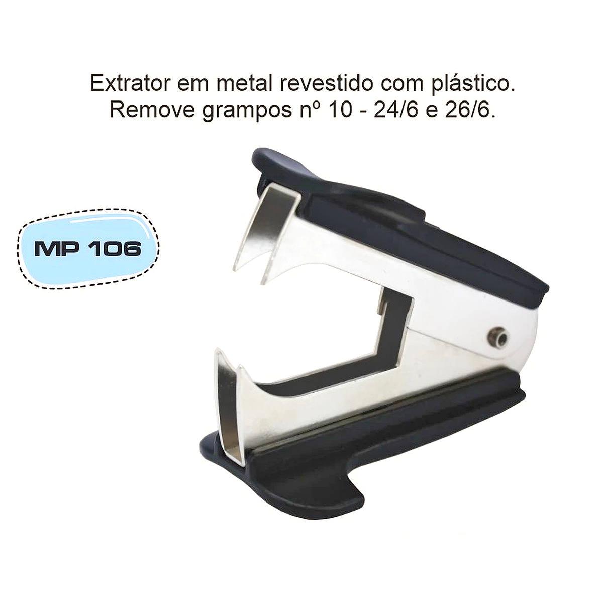 Removedor de Grampos Tipo Piranha Extrator de Grampo 24/6 e 26/6 Masterprint MP106