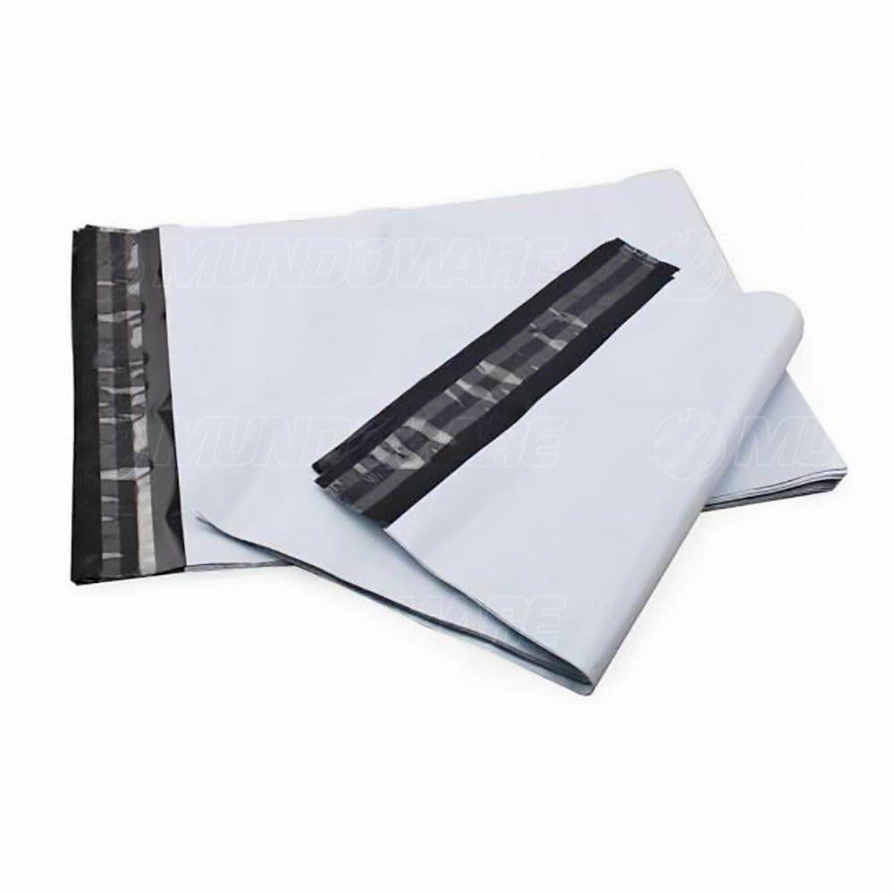 Saco Plástico Tipo Correio Sedex com Lacre de Segurança Inviolável 25x35 cm Envelope para Loja Virtual / 100 unidades