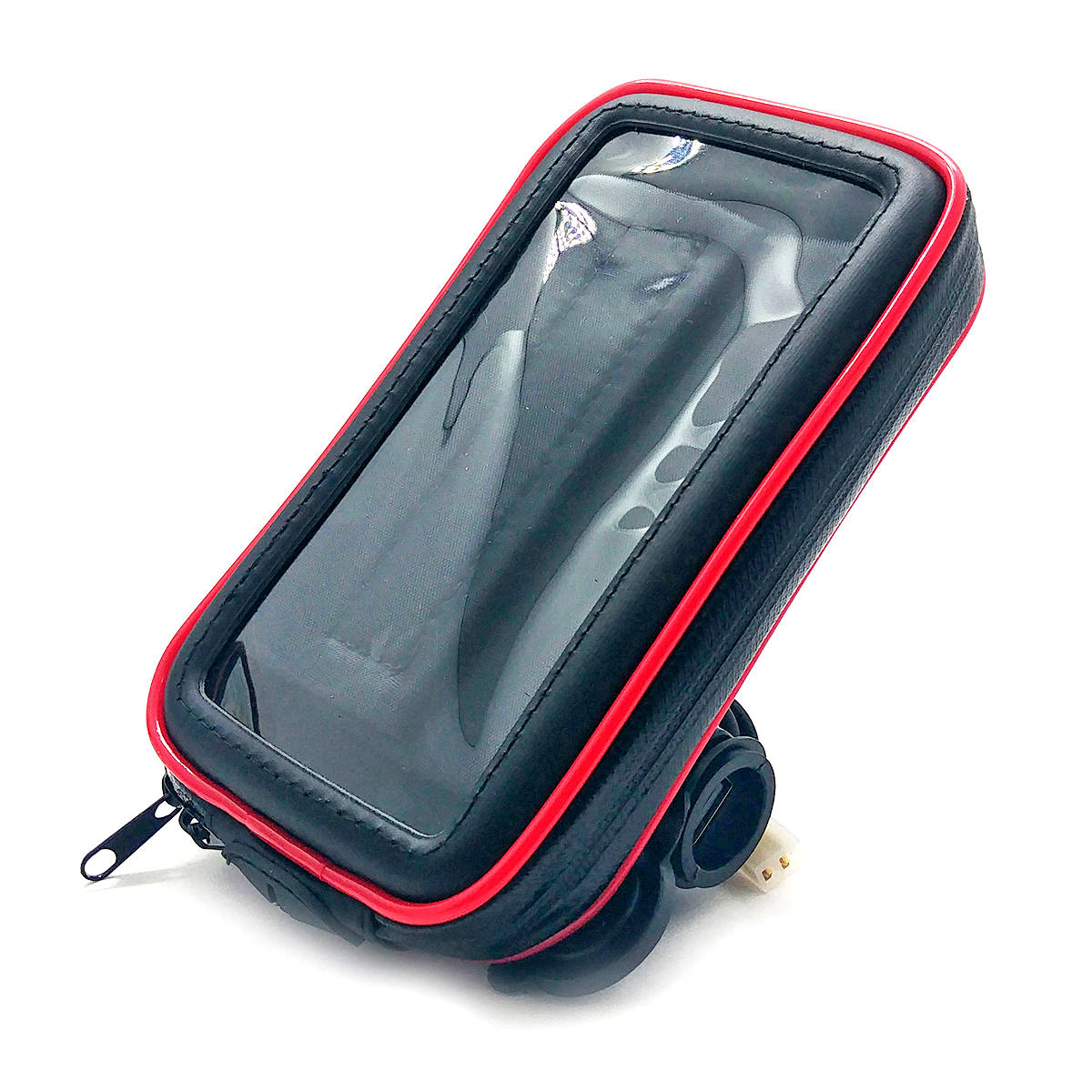 """Suporte de Celular para Retrovisor de Moto com Case Impermeável Carregador USB 2A Rotação 360º até 6.3"""" Exbom SP-CA35L"""