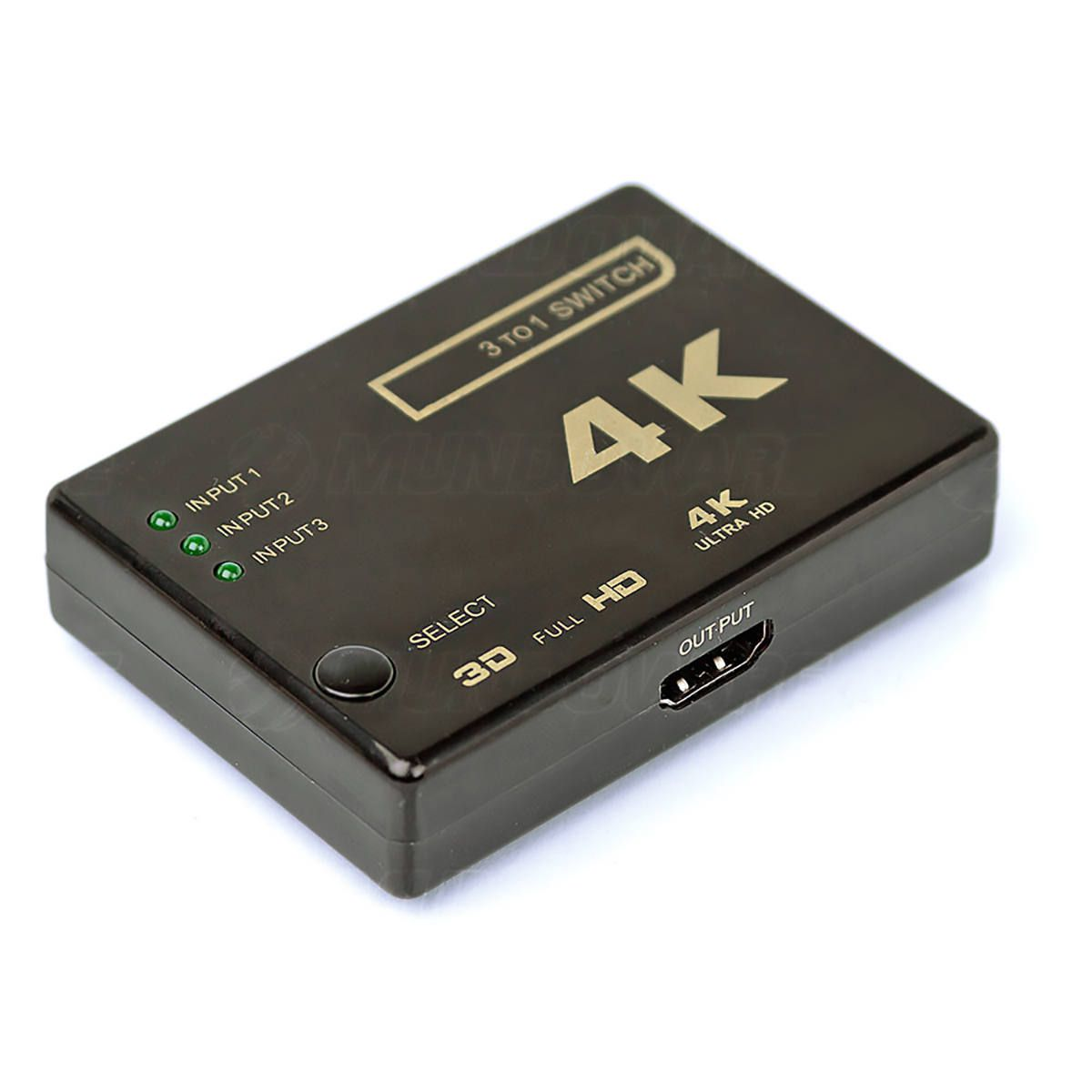 Switch Chaveador HDMI 3 Entradas e 1 Saída 4K HDTV com Controle Remoto