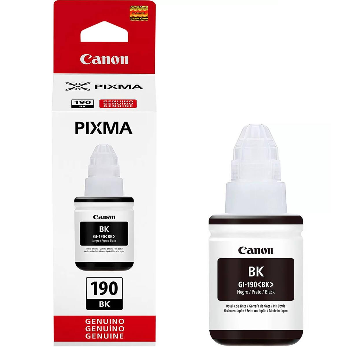 Tinta Canon GI-190BK GI-190 GI190 Preta Original para Pixma Maxx G1100 G2100 G3100 G3102 G4100 G3111 Refil de 135ml