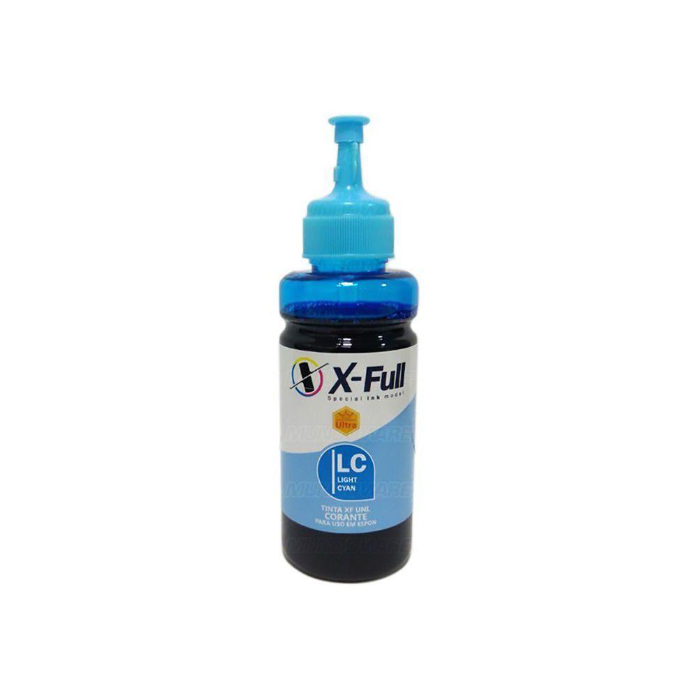 Compatível: Tinta Corante X-Full Ultra para Impressora Epson Ecotank L800 L805 L810 L850 L1800 / Ciano Light / 100ml