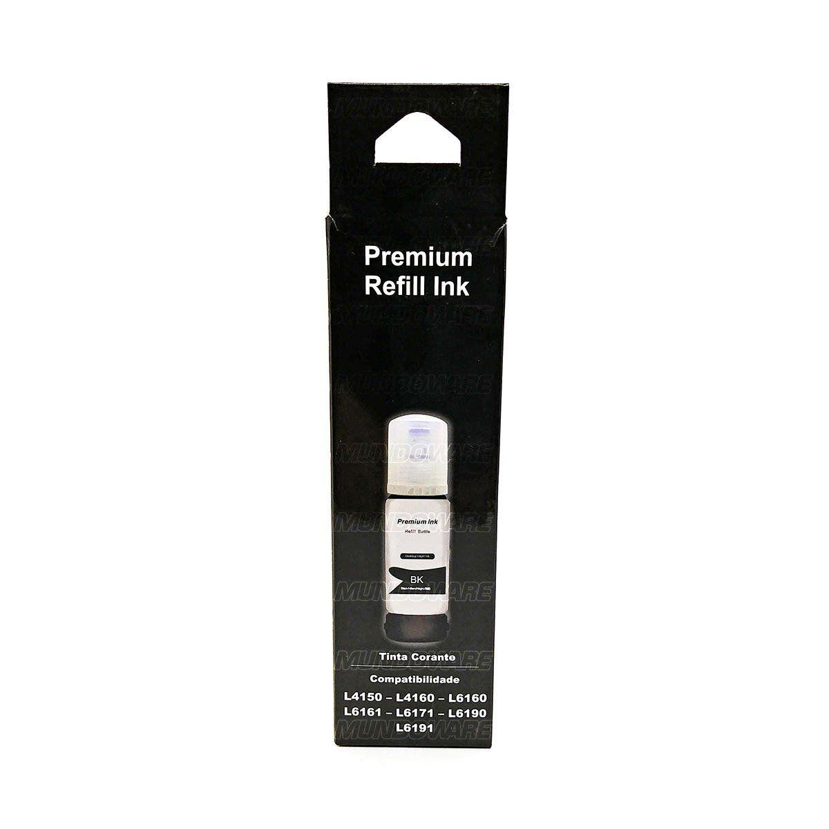 Compatível: Tinta Corante Laserteck para Epson L4150 L4160 L6160 L6161 L6171 L6190 L6191 4150 6161 6190 / Preto / 70ml
