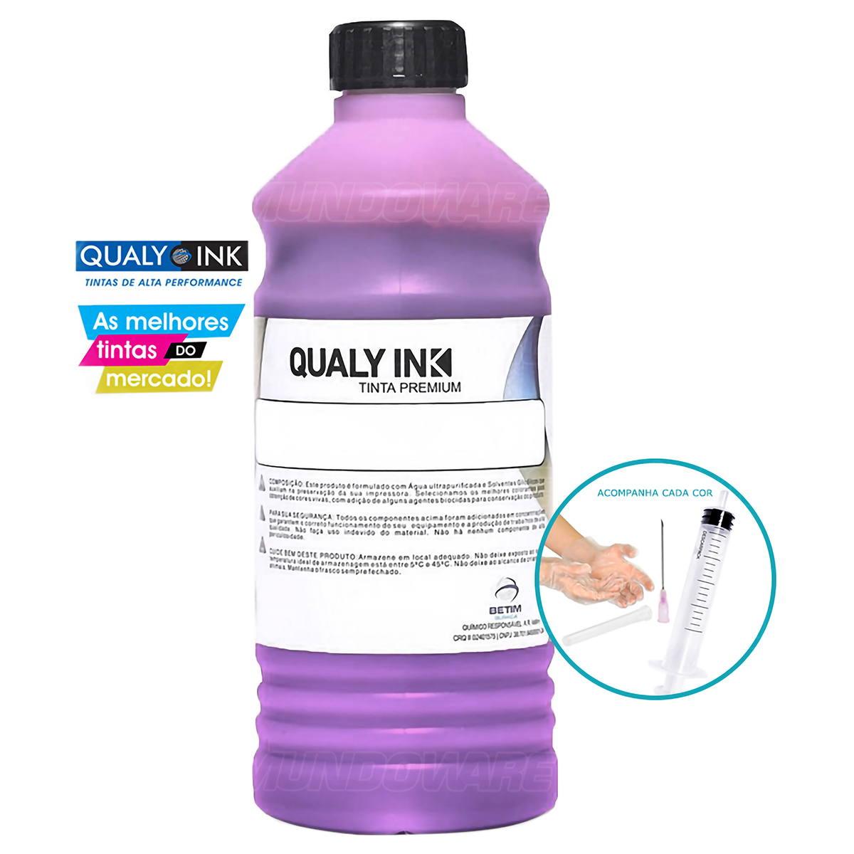 Tinta Corante Qualy-Ink para Impressora Canon G1800 G3800 G1000 G2000 G2100 G2900 G3900 Magenta Refil 1L