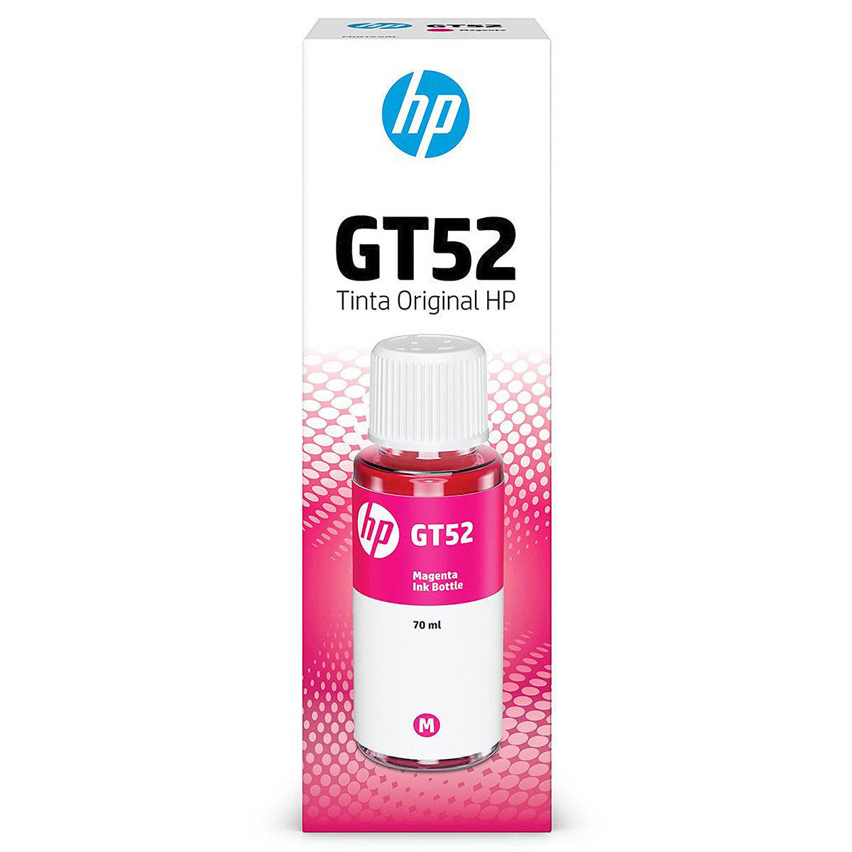 Tinta HP GT52 GT 52M M0H55AL Original Magenta para HP Deskjet GT 5822 416 116 Smart Tank 517 532 617 Garrafa de 70ml
