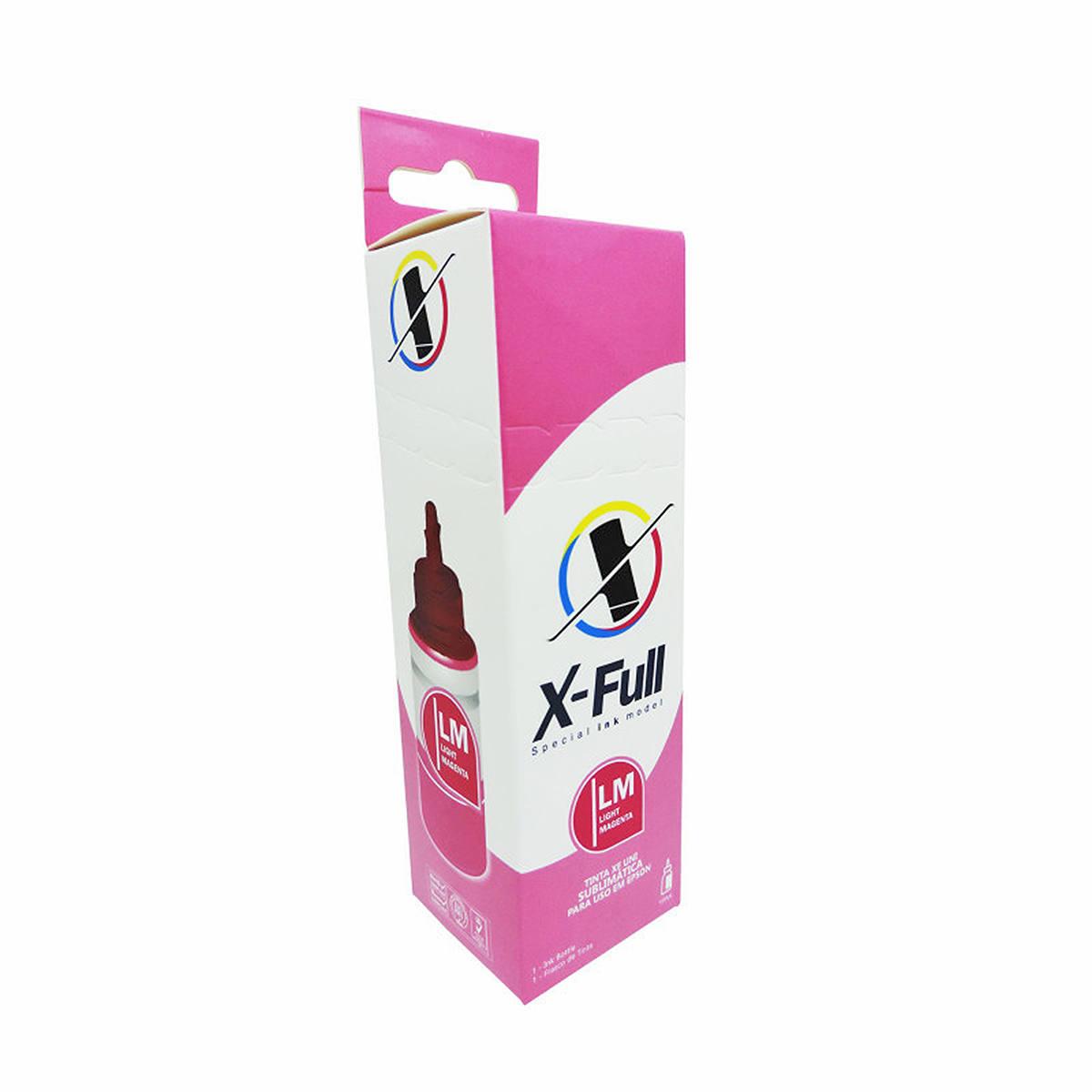 Tinta Sublimática X-Full para uso em todas as Impressoras Epson L Series 664 / Magenta Light / Refil 100ml