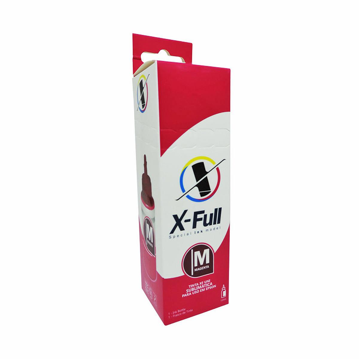 Tinta Sublimática X-Full para uso em todas as Impressoras Epson L Series 664 / Magenta / Refil 100ml