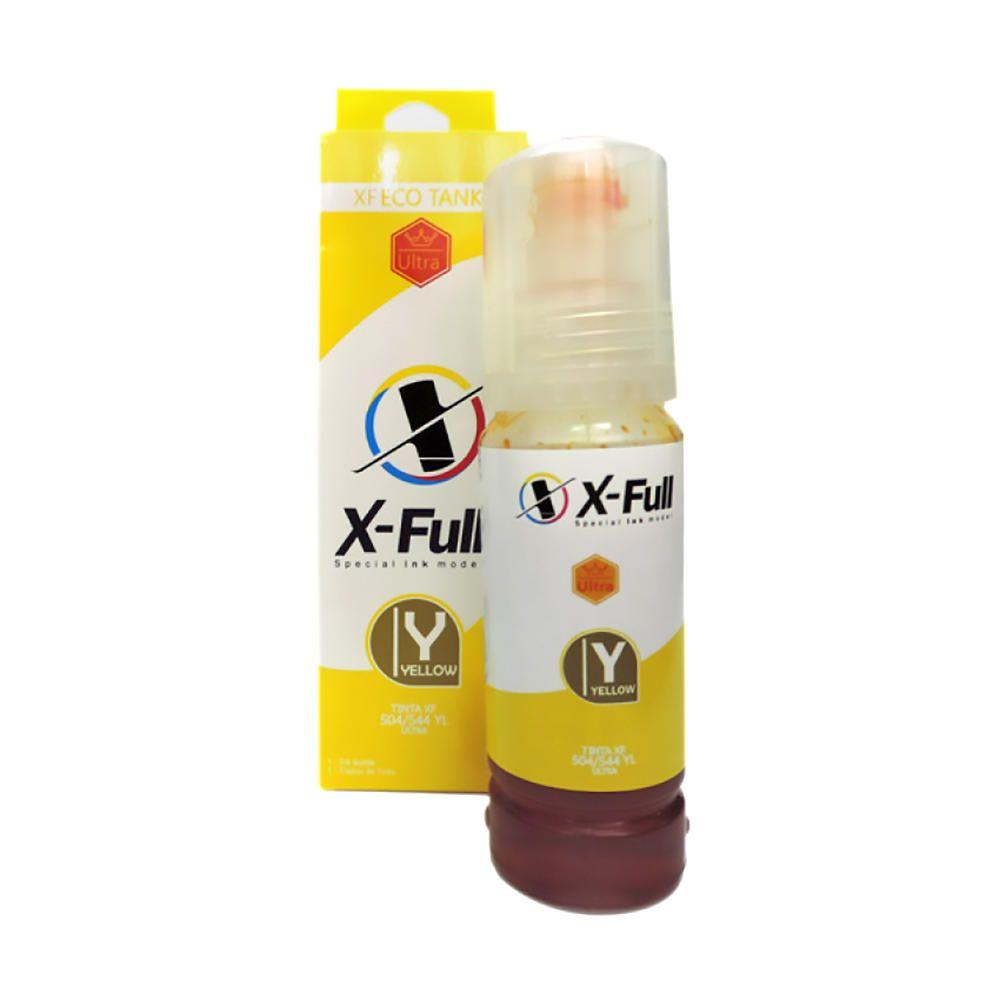 Compatível: Tinta Corante X-Full Ultra para Epson L3108 L3150 L4150 L4168 L6198 ET2700 ET7700 M670 / Amarela / 70ml