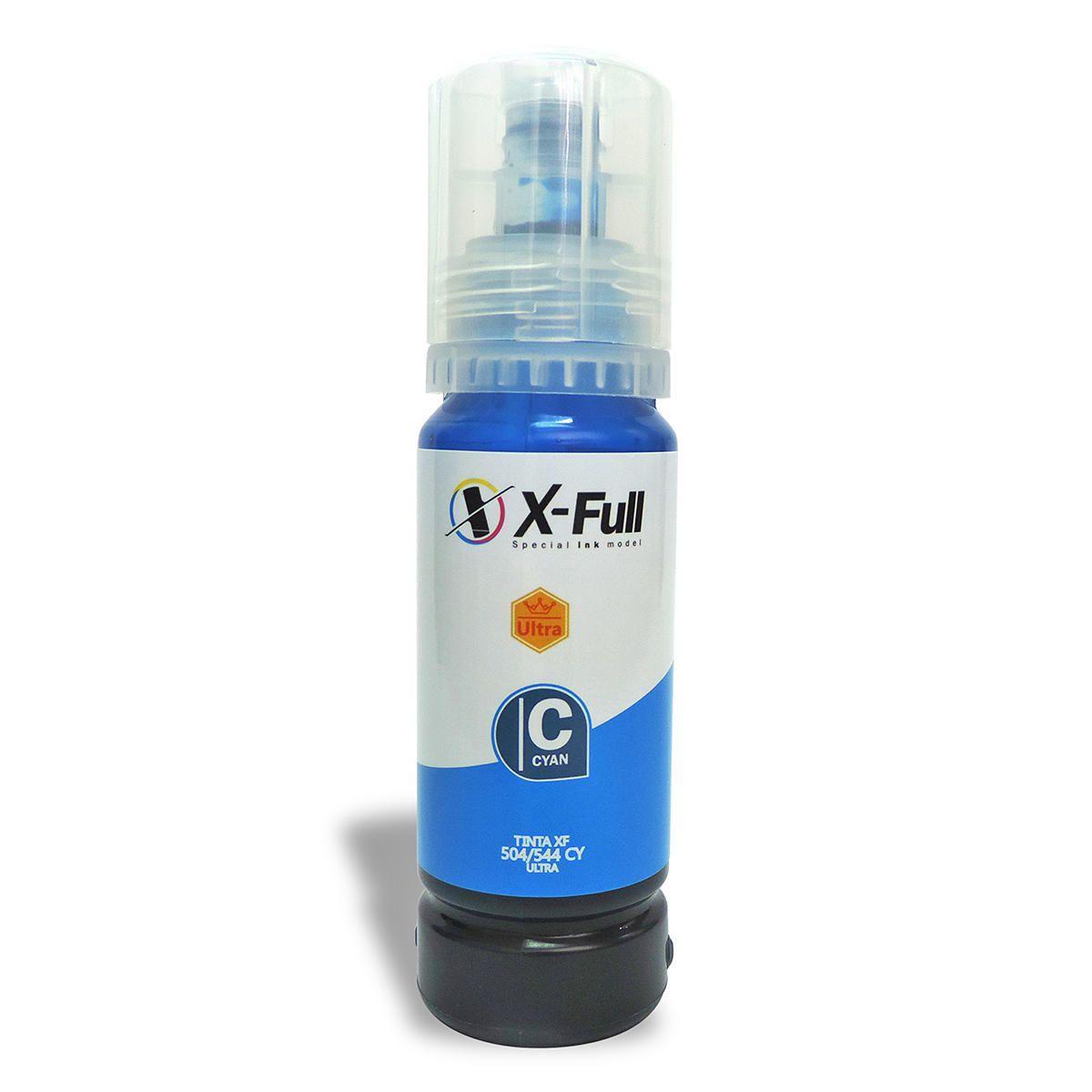 Compatível: Tinta Corante X-Full Ultra para Epson L3110 L3111 L3158 L4150 L4168 L6160 L6168 L6178 / Ciano / 70ml