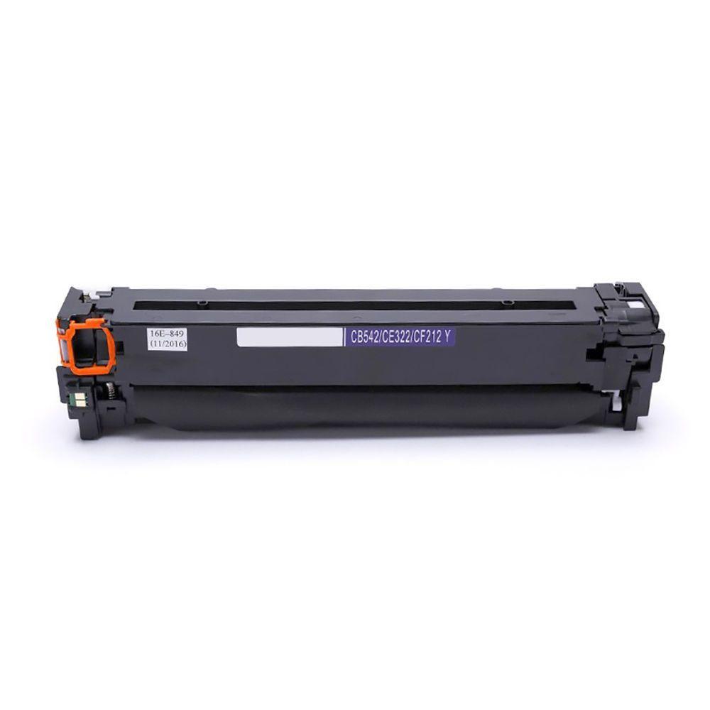 Compatível: Toner CB542A CE322A CF212A para HP M251nw M276nw CM-1312nfi CP-1525 CM-1415fnw CP-1215 / Amarelo / 1.400