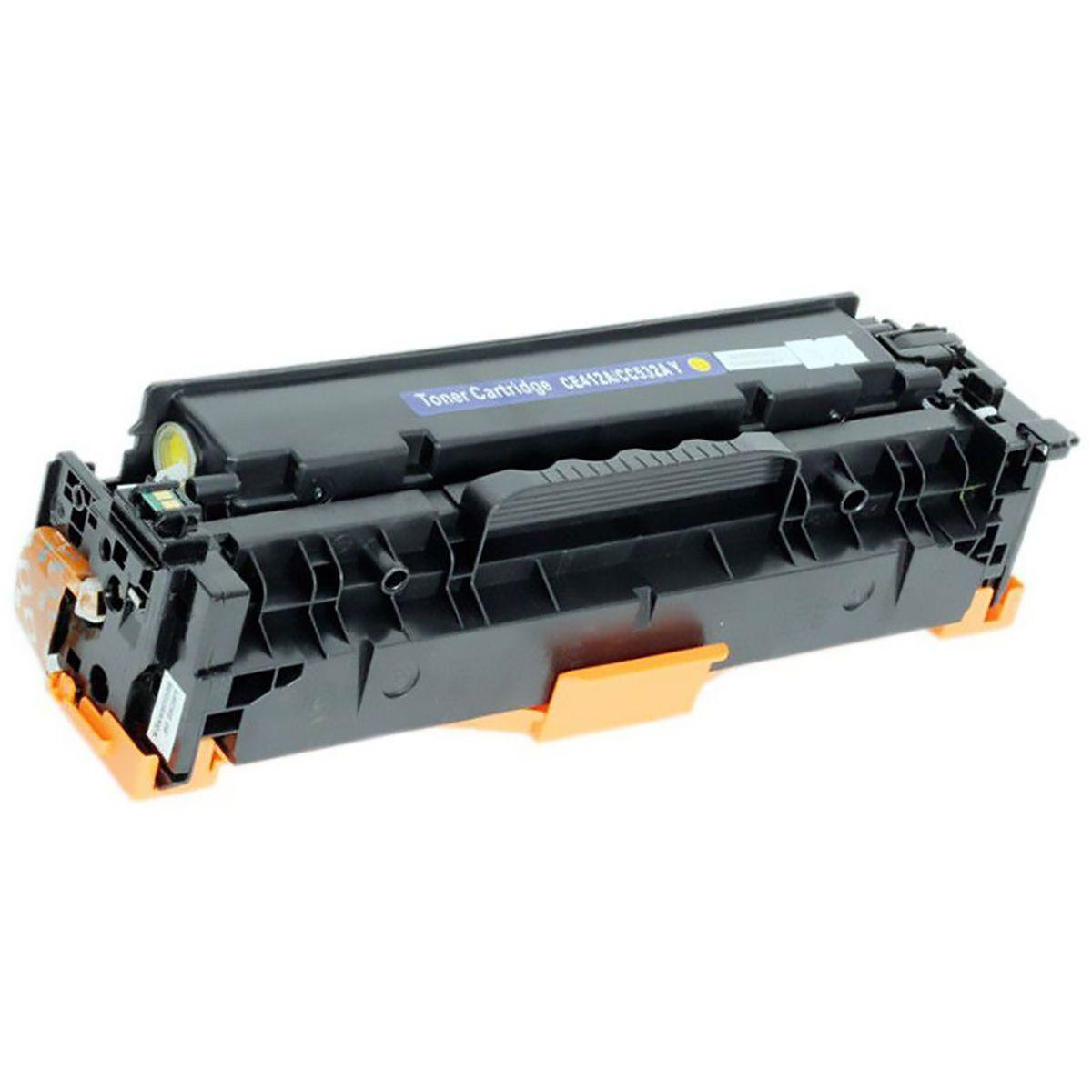 Compatível: Toner CC532A CE412A CF382A para HP M375nw M476nw M476dw CM2320 CP-2025 CP2025dn CP2025x / Amarelo / 2.800