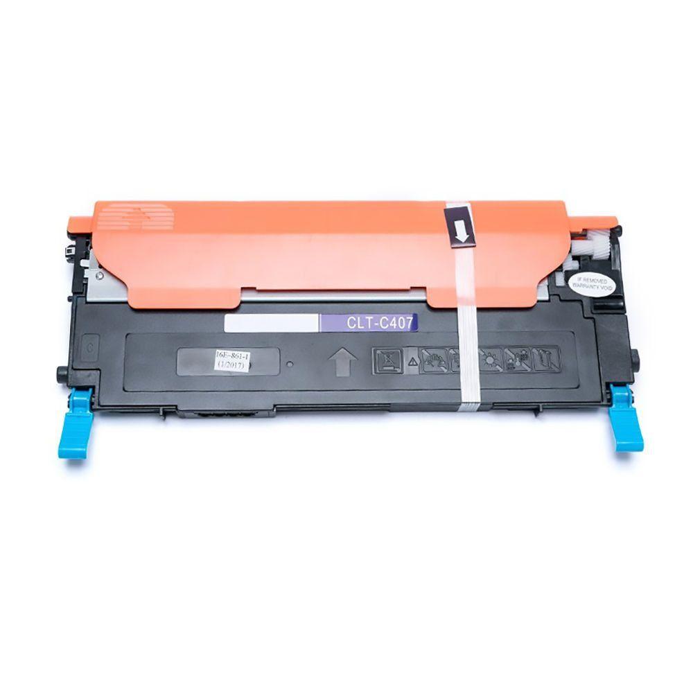 Compatível: Toner CLT-407S C407 para Samsung CLP320 CLP325 CLX3185 CLX3185fw CLX3185n CLP325w 3185 / Ciano / 1.000