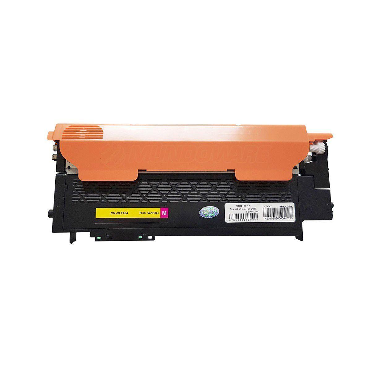 Compatível: Toner CLT-M404 404S para impressora Samsung SL-C480fw C480fn C480w C480 C430w C430 / Magenta / 1.000
