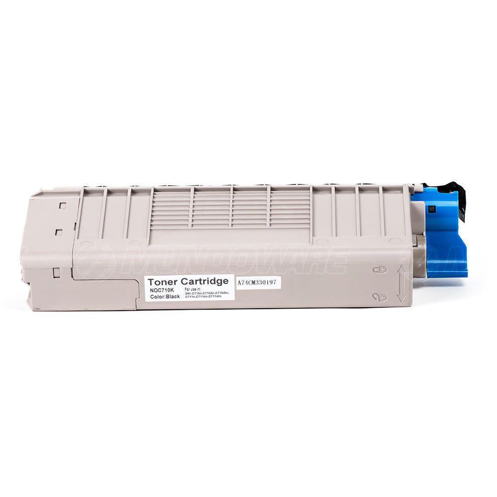 Compatível: Toner C710/711 para Impressora Okidata C710 C710n C710dn C710dtn C711 C711n C711dtn / Preto / 11.500