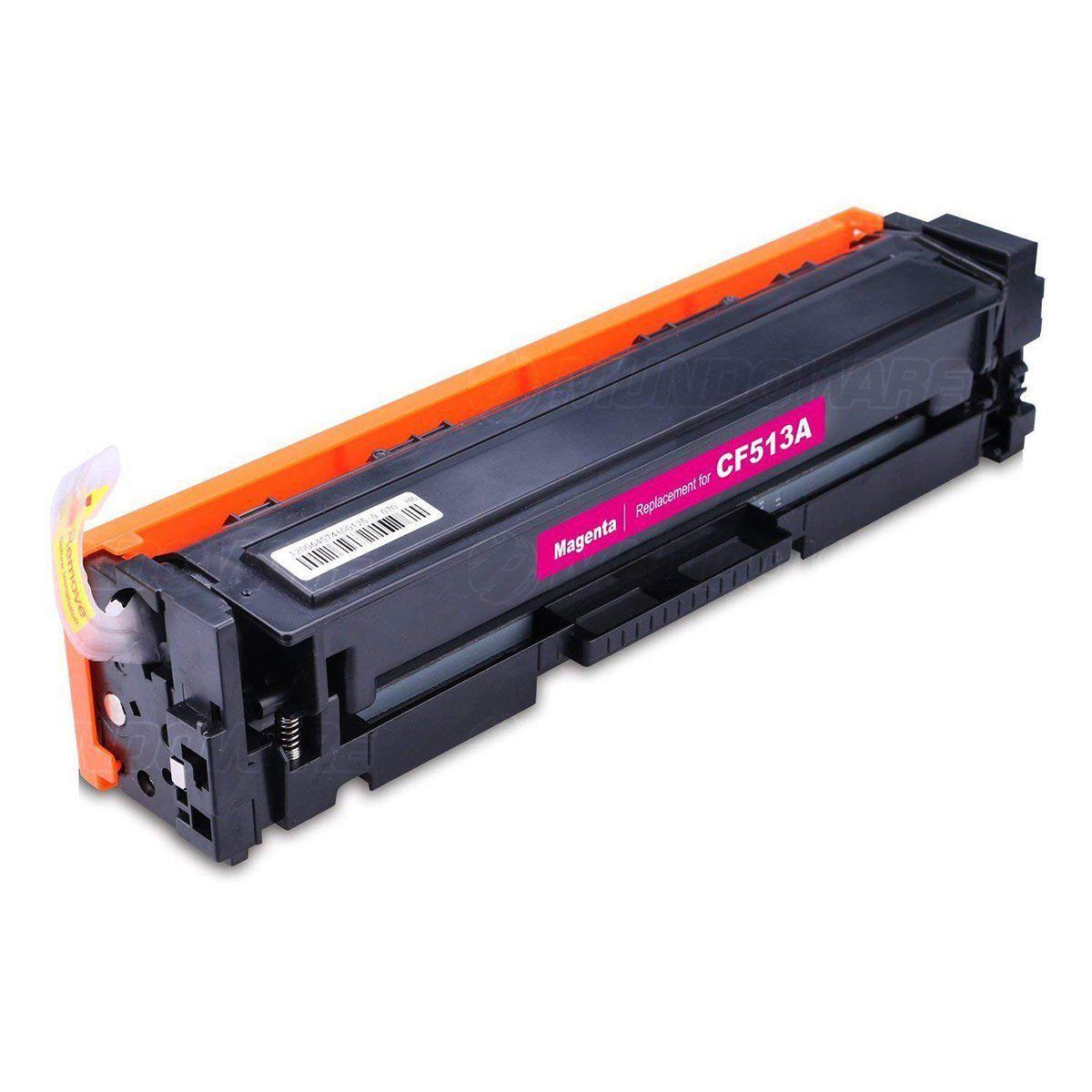 Compatível: Toner CF513A 204A para Impressora HP M154a M154nw M180n M180nw M181 M181fw 154nw 181fw / Magenta / 900