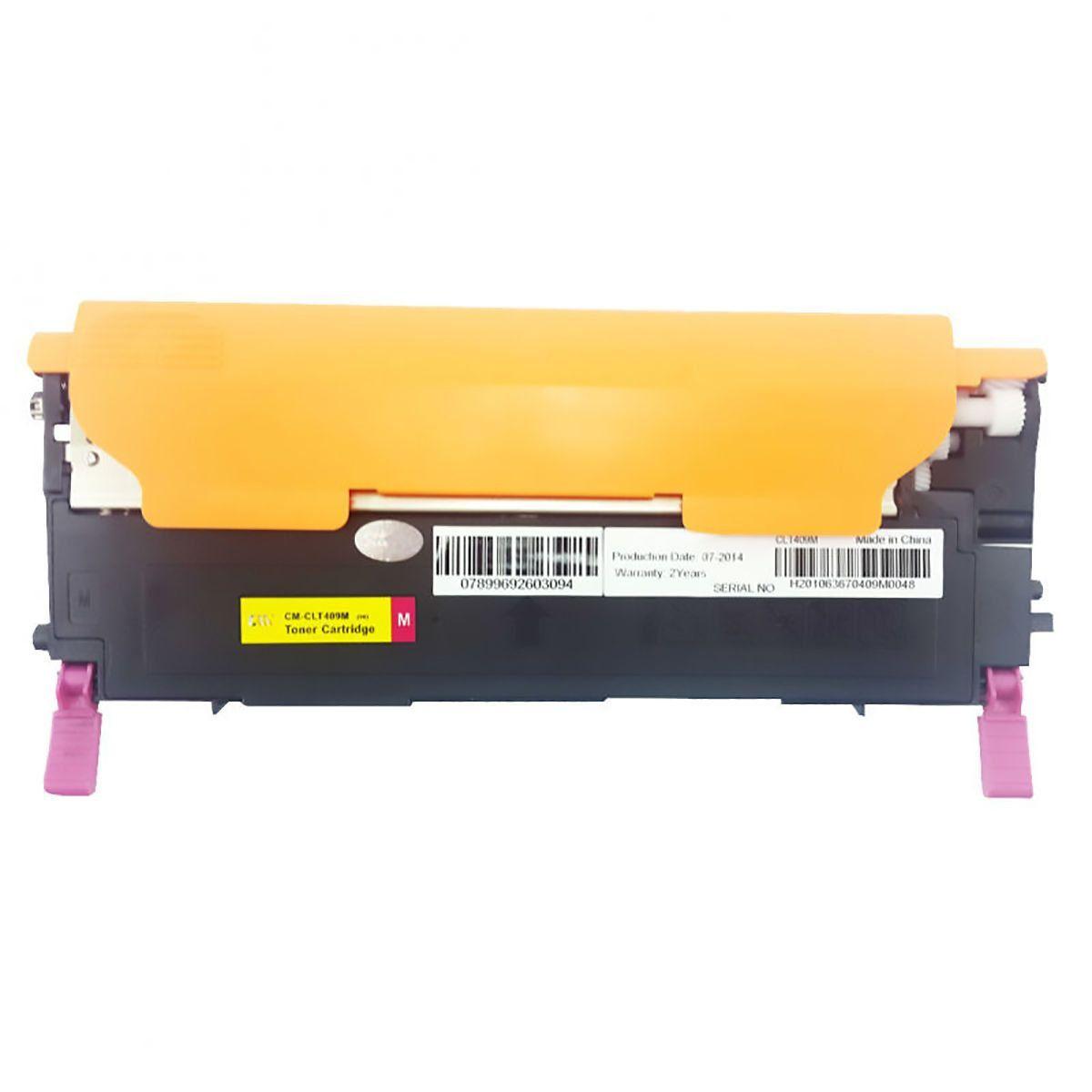 Compatível: Toner M409S CLT-409 para Samsung CLP-315w CLX-3175fw CLX-3170 CLX-3175 CLX-3175fn CLP-310 / Magenta / 1.000