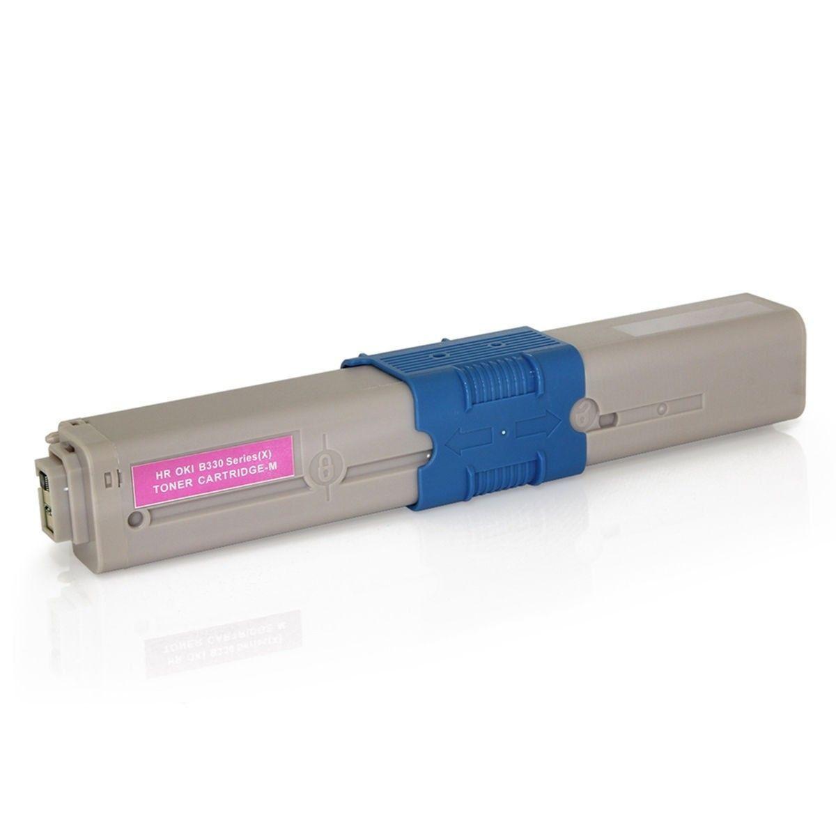 Compatível: Toner C330 C530 para Okidata MC561 MC361 C530dn C330dn MC351 C310n C310dn C531dn MC562w / Magenta / 3.000