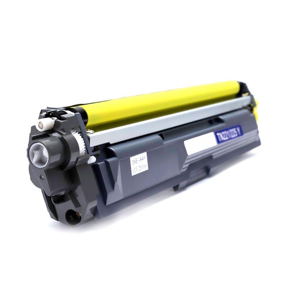 Compatível: Toner TN221 TN225 para Brother HL3140 HL3140cw HL3150 HL3170 MFC9020 9130 9140 9330 9340 / Amarelo / 1.500
