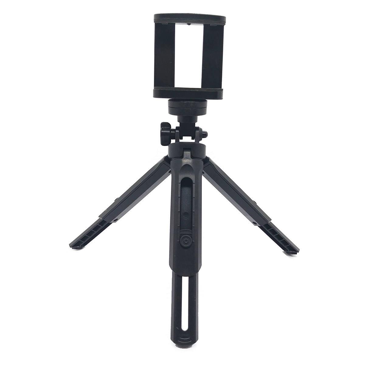 Tripe de Mesa para Celular com Regulagem de Altura até 26cm Rotação 360º Suporte p/ Modo Horizontal e Vertical JBK518