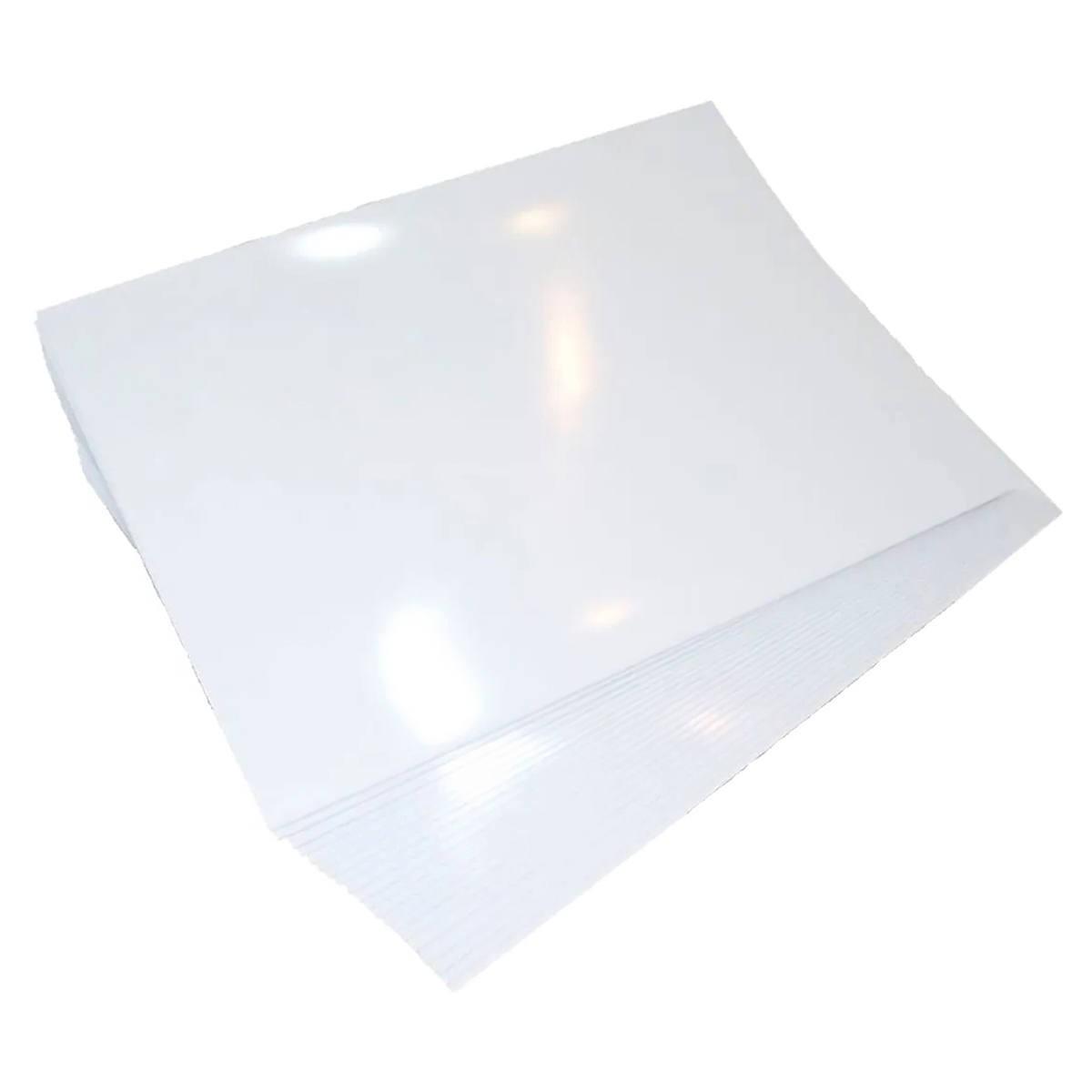 Vinil Adesivo Branco Brilhante à Prova d'água 135g A4 PVC Autoadesivo / 10 folhas