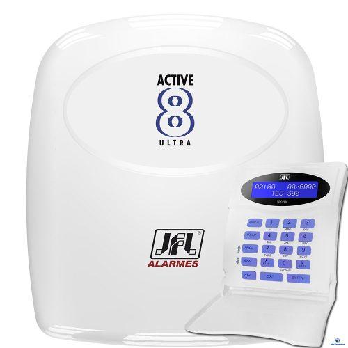 Kit Central De Alarme Monitorado Active 8 Jfl + Sensores Jfl