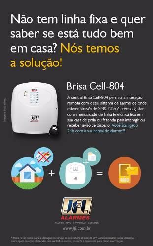 Kit Alarme Residencial Brisa Cell 804 Com Sensores Sem Fio Irs 430i Jfl