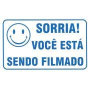 Placa De Aviso Sorria Você Esta Sendo Filmado
