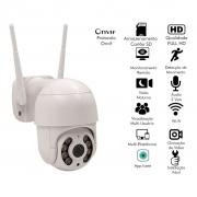 Camera Ip Mini Speed Dome Wifi Wireless Externa Infra Hd 960p