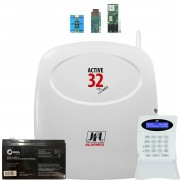 Central Active 32 Duo Jfl Com Modulos Ethernet Gprs e Pgm